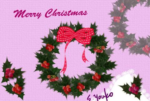 清水さんクリスマスリース