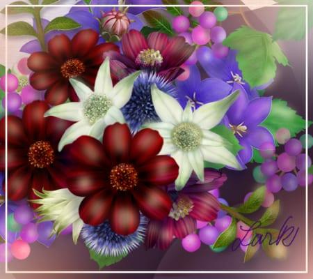 秋1お花配置フランネル追加のぶどうたくさん