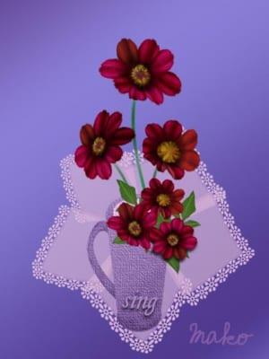 長澤さんチョコレートコスモス花瓶23