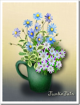 green_cup_with flowers1