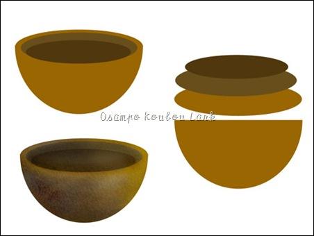 シェイプツールで植木鉢
